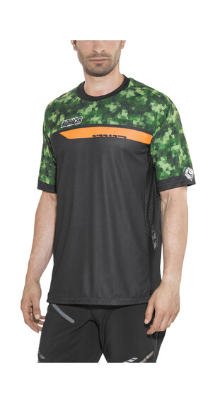 Bioracer Enduro Jersey korte mouwen Heren groen/zwart